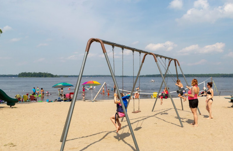 Swings at Great Blue Resorts- McCreary's Beach Resort.