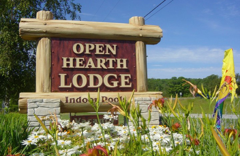 Entrance at Open Hearth Lodge