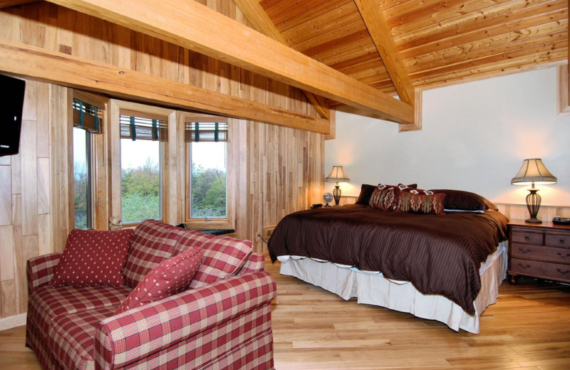 Vacation rental bedroom at Slope-Side Accommodation.