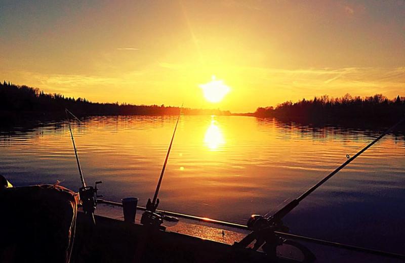 Lake sunset at Clementson Resort.