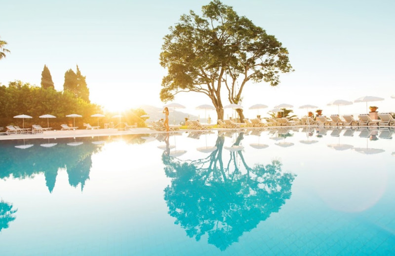 Outdoor pool at Reid's Palace Hotel.