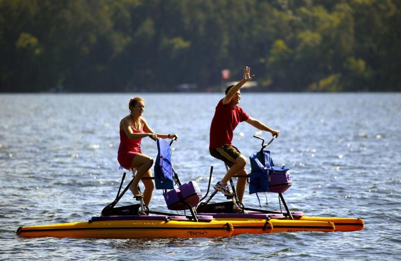 Boat bike at Cragun's Resort and Hotel on Gull Lake.