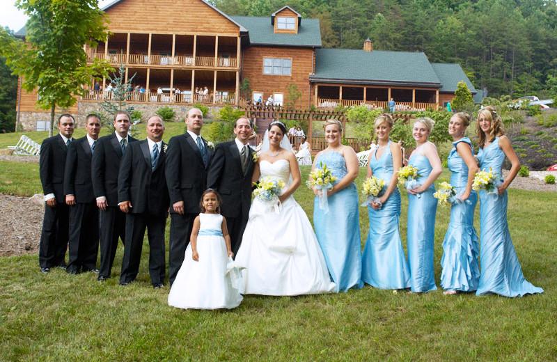 Wedding party at House Mountain Inn.