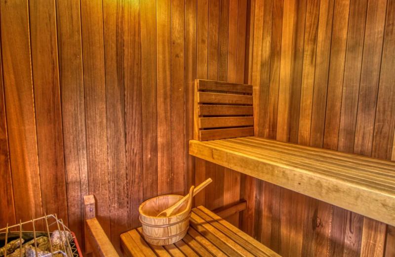 Rental sauna at Aunt Bug's Cabin Rentals, LLC.