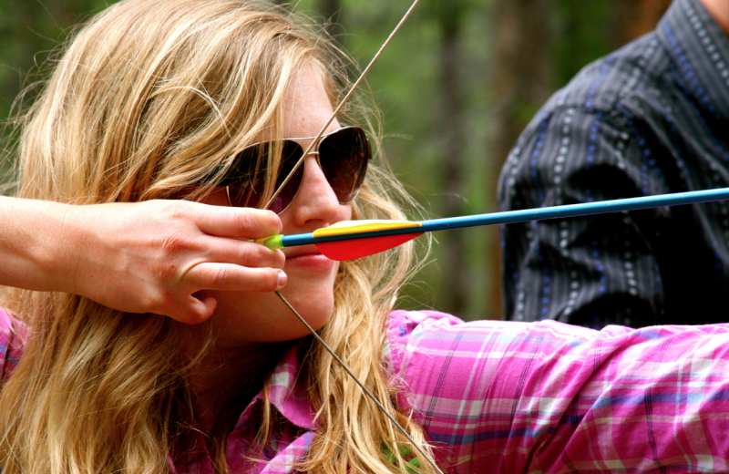 Archery practice at Wind River Ranch