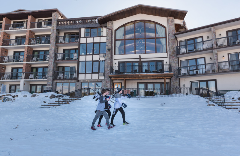 Skiing at Golden Arrow Lakeside Resort.