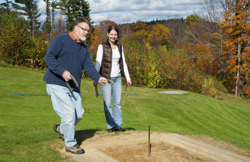 Horseshoes at Steele Hill Resorts.