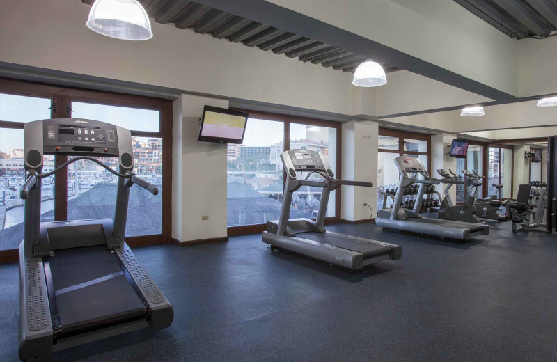 Fitness room at Tesoro Los Cabos.