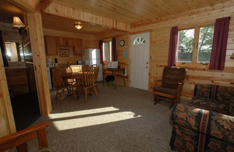 Interior view of lodge at Isle O' Dreams Lodge.