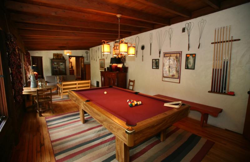 Cabin interior at Tumbling River Ranch.