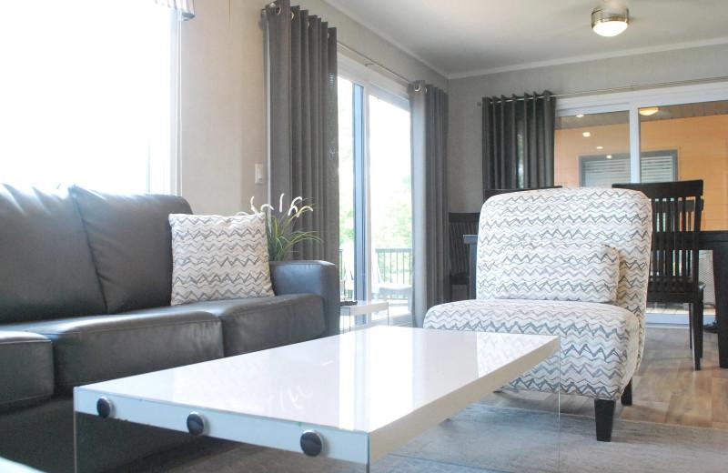 Cottage interior at Golden Beach Resort.