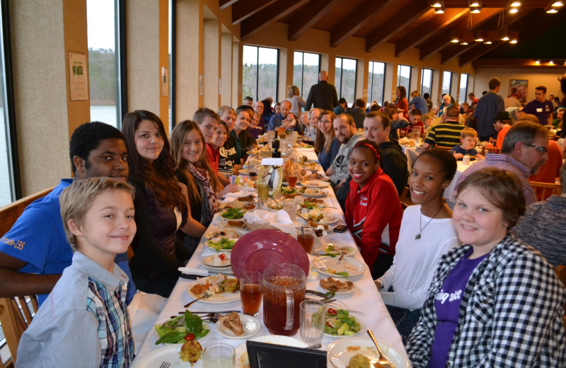 Dining at YMCA Trout Lodge & Camp Lakewood.