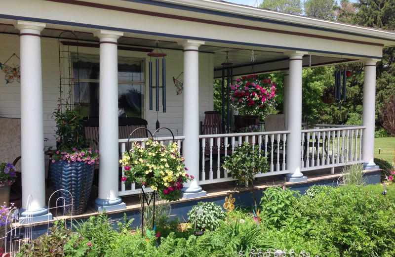 Porch at Country Haven B&B.