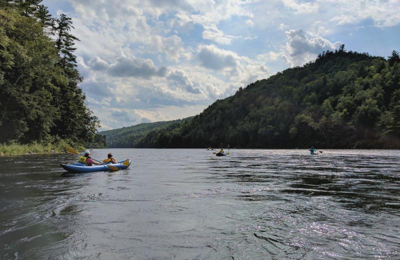 Kayaking at Northern Outdoors.