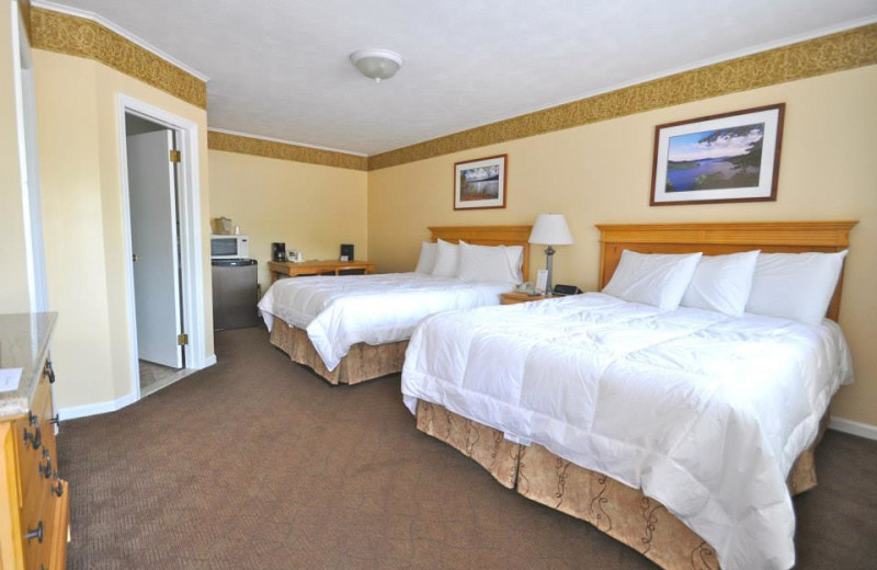 Guest bedroom at Marine Village Resort.