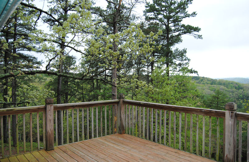 Cabin deck at Cabin Fever Resort.