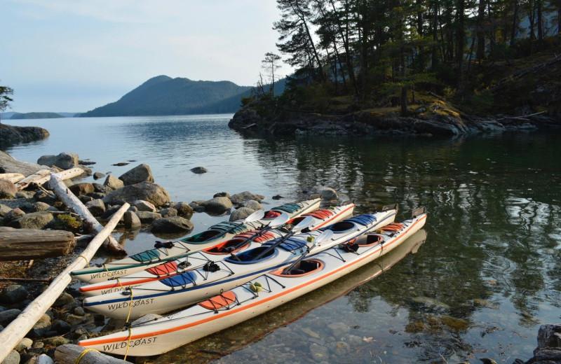 Kayaks at Orca Camp.