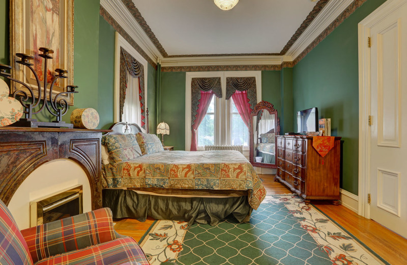 Guest room at Greystone Manor Bed