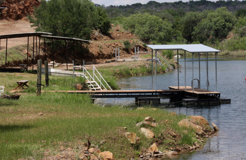 Dock at Reveille Peak Ranch.