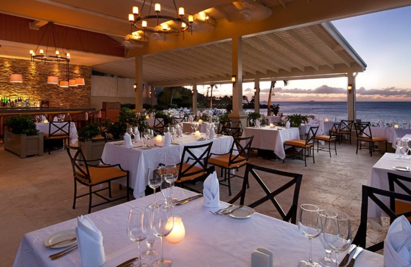 Dining at Blue Waters Hotel.