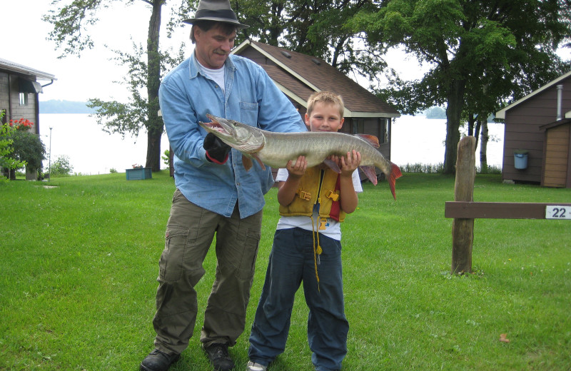 Fishing at Southview Cottages Resort.