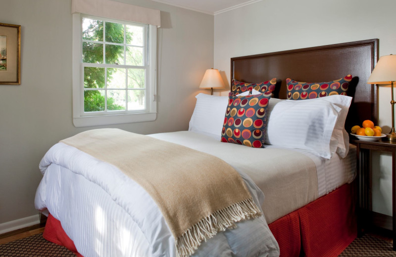 Guest room at The Inn at English Meadows.