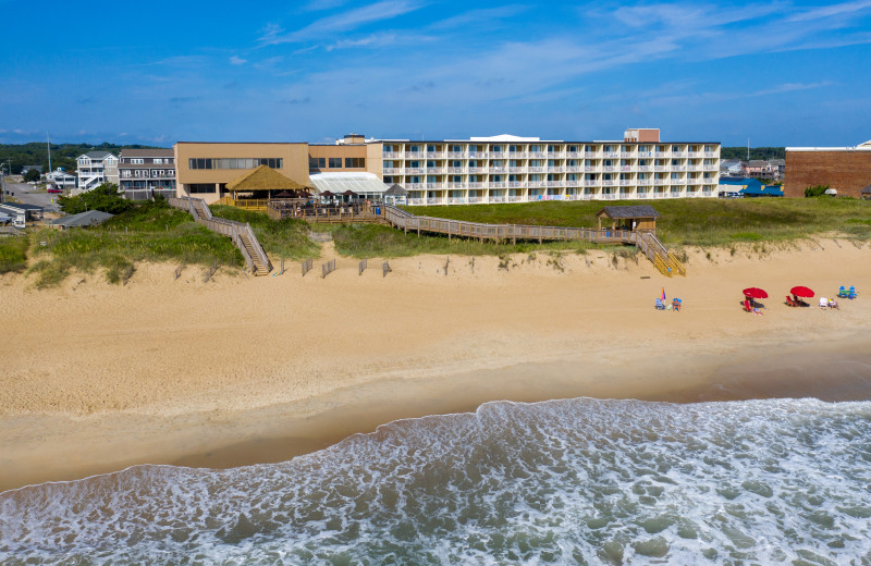 Exterior view of Ramada Plaza Nags Head Oceanfront.
