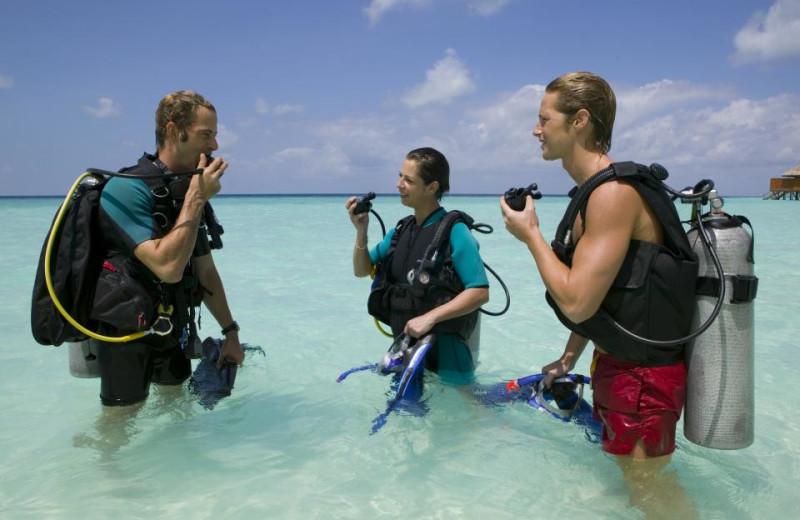 Diving at Veligandu Island Resort.