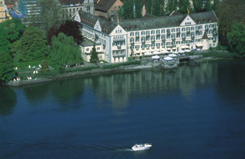 Aerial view of Steigenberger Inselhotel.