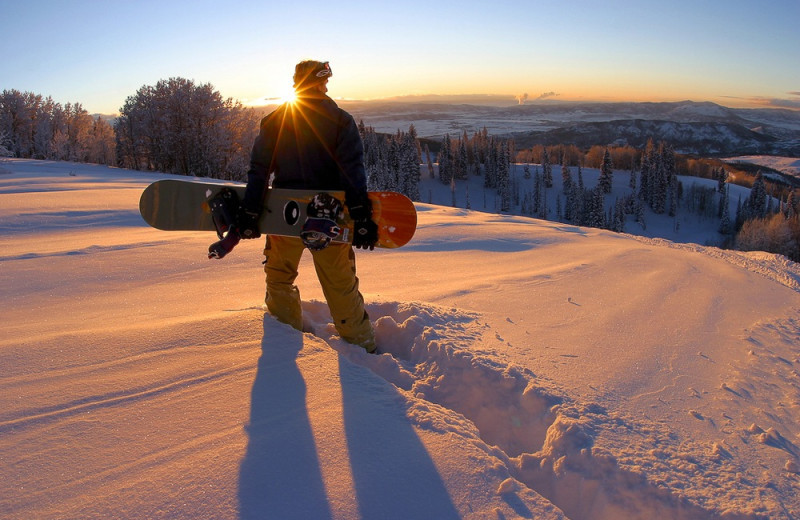 Snowboarding at The Bella Vista Estate.
