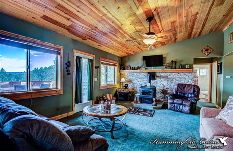 Living room at Hummingbird Cabins - Bear Crossing Vacation Rental