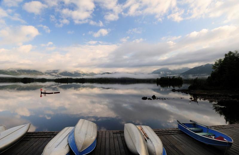 Boats at Elk Lake Lodge.