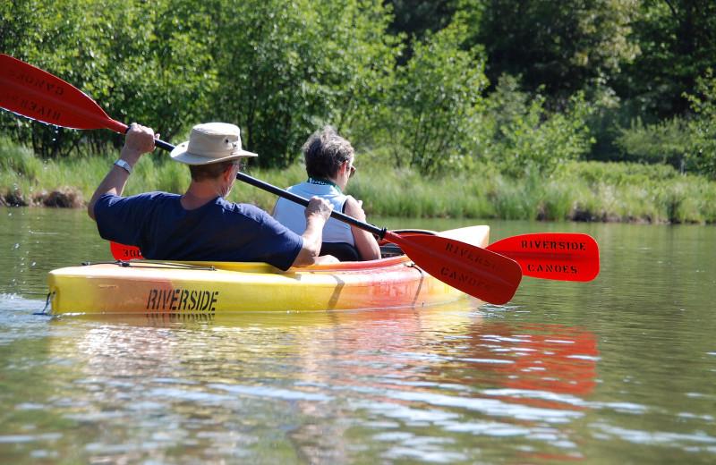 Kayaking at Chimney Corners Resort.