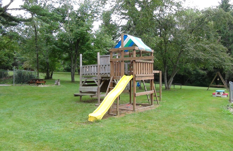 Kid's playground at Birchcliff Resort.