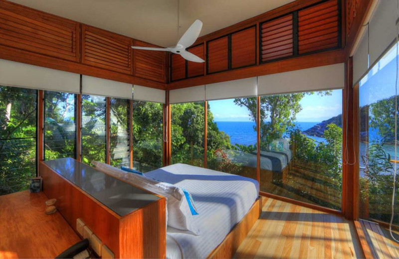 Guest bedroom at Bedarra Island.