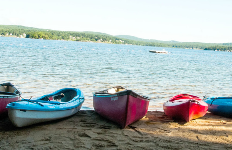 Kayaks at The Margate on Winnipesaukee.