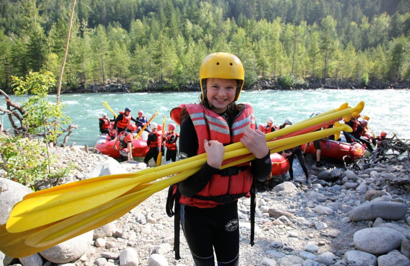 Kids rafting trip at REO Rafting Resort.