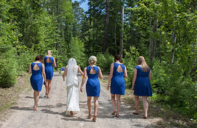 Wedding party at Buckhorn on Caribou.