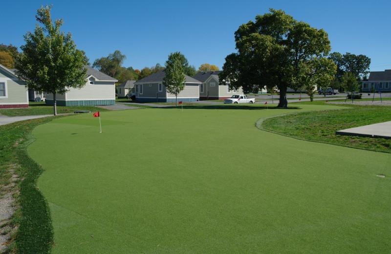 Golf course at Sandbanks Summer Village Cottage Resort.