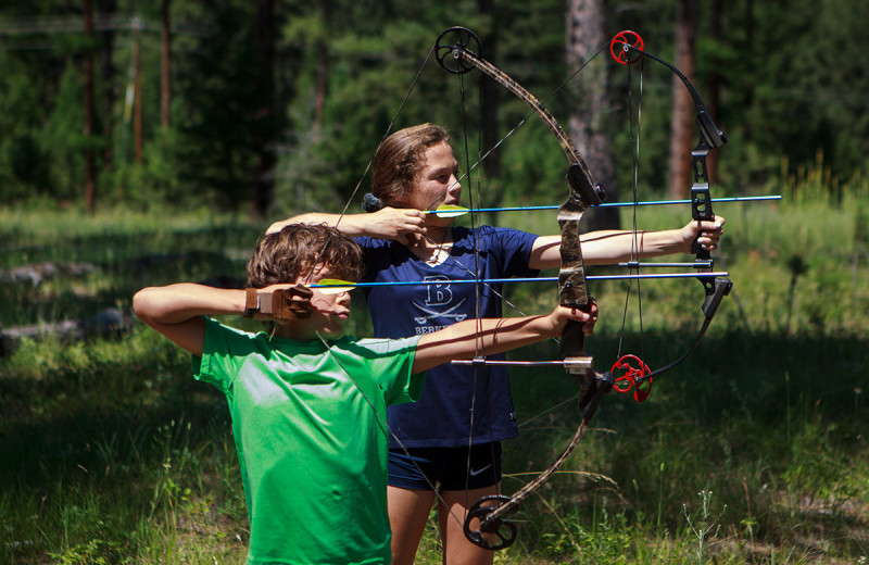 Archery practice at The Resort at Paws Up.