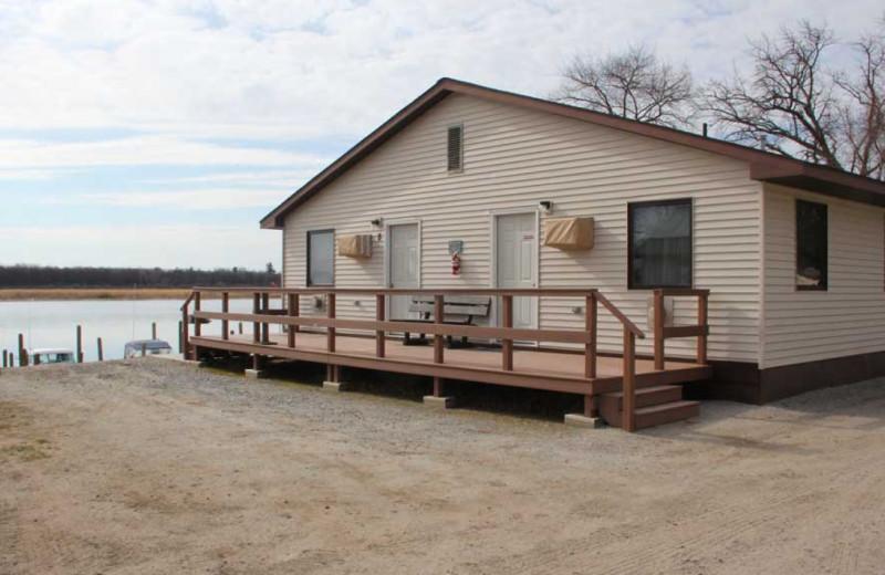 Cabin exterior at Ballard's Resort.