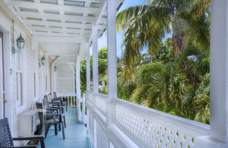Porch at Coco Plum Inn.