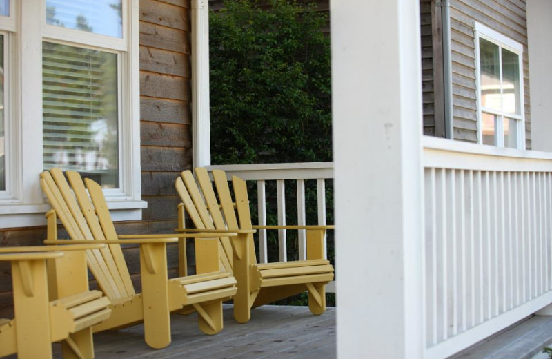 Vacation rental porch at Bella Beach Property Management.