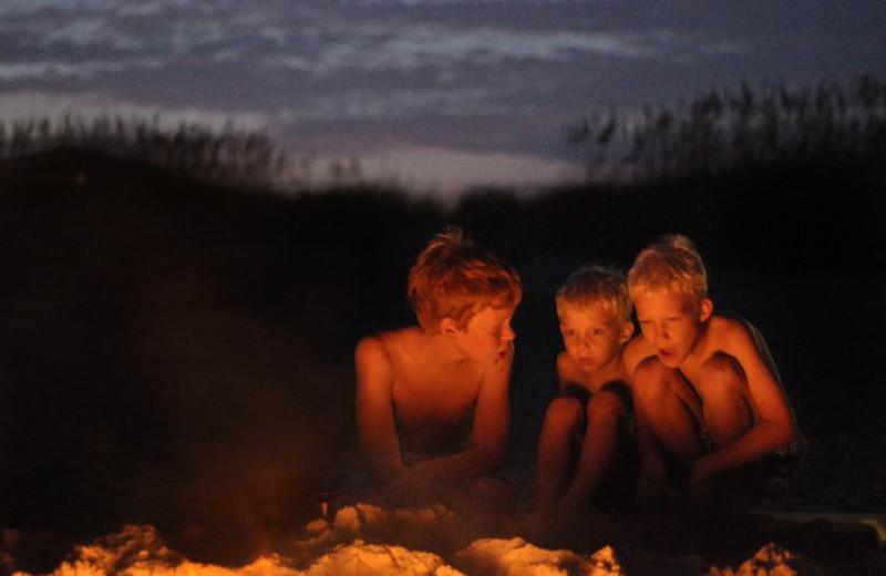 Kids At Bonfire at Hatteras Realty