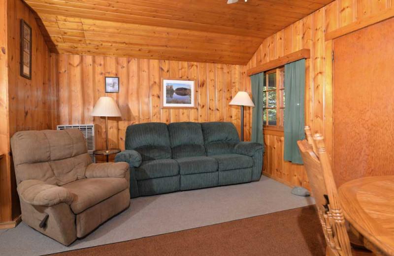 Guest living room at Manotak Lodge.