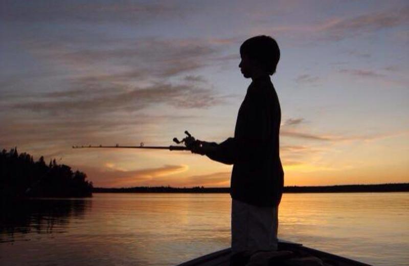 Fishing at Crow Rock Lodge