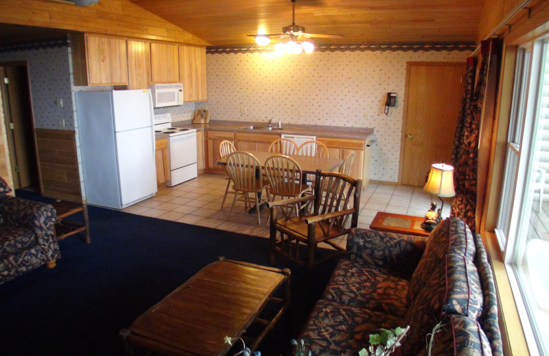 Cabin kitchen at Gull Lake Resort.