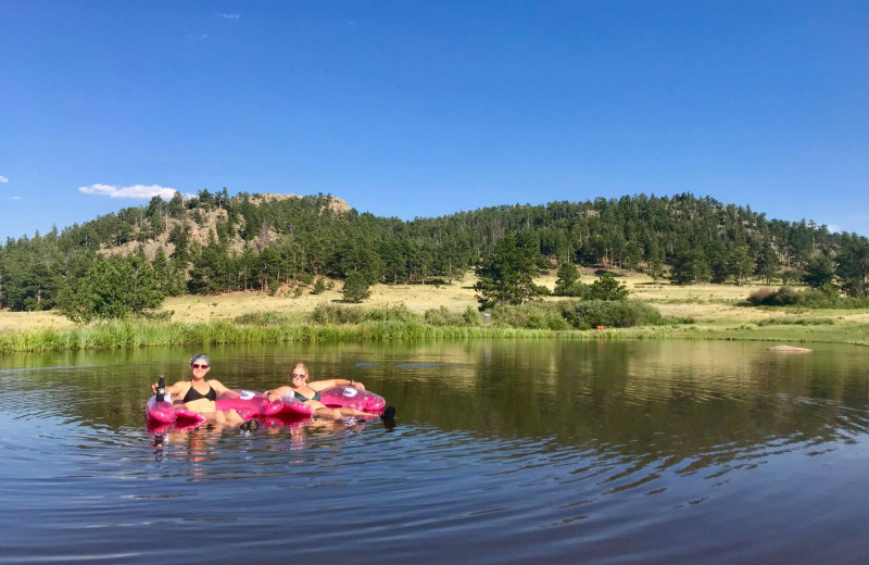 Swimming at Sundance Trail Guest Ranch.