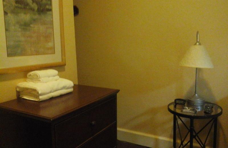 Guest room dresser at Gilmore Hotel.