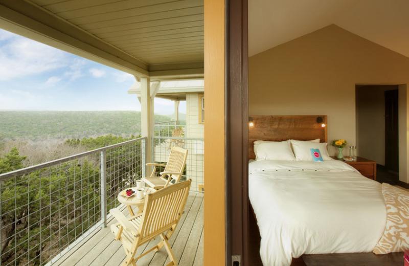 Canyon view room at Travaasa Austin.